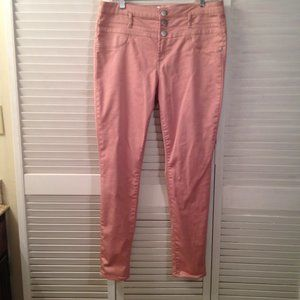 No Boundaries 17 Dusty-Rose Stretch Jeans